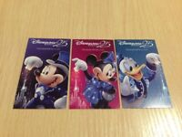3 x Disneyland Paris 1 day 2 parks entrance ticket