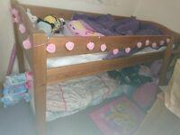 Mid sleeper pine bed
