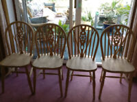 Wheel back Chairs - four