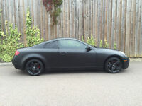2004 04 - NISSAN SKYLINE 350 - GT NISMO BEEN WRAPED IN MET BLACK