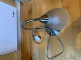 Silver and Glass Desk Lamp (inc bulb)