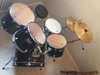 """MAGNUM"" 5 Piece Drumset With Cymbals - Very Good Condition"