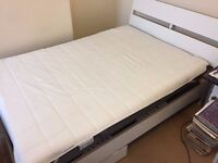 Ikea Trysil white standard double bed in superb condition complete with all £120