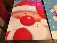 4 X LARGE JUMBO CHRISTMAS GIFT BAGS