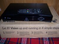 BT Vision remote control and box