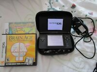 Black Nintendo DS Lite games Console Bundle with two games and a case