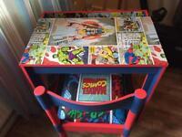 Children's upcycled marvel desk