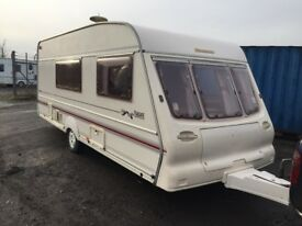 bailey pageant champagne 1999 4 berth end changing area separate toilet and shower oven hobs and