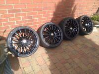 "18"" 4x100 & 4x108 Wolfrace alloy wheels"