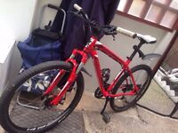 specialized hardrock disc hybrid road bike light weight with mudguards ready to ride
