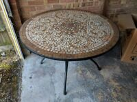 Large table, comes with 4 matching chairs