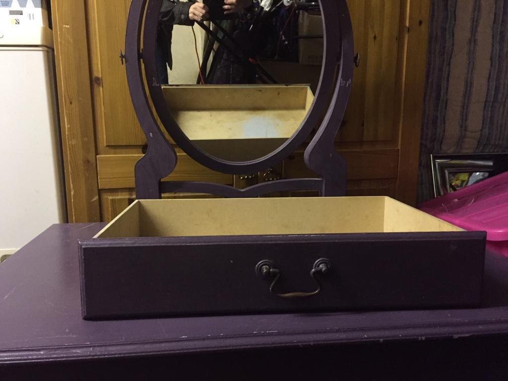 Dresser Table with Mirror and Single Draw