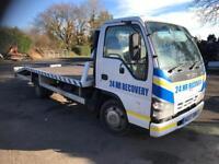 2007 07 Isuzu Nkr 3.0td beavertail recovery truck no vat