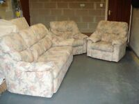 G PLAN – 3 Seater Sofa + 2 Arm Chairs