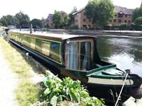 60 ft Trad Narrowboat with unique window on the world