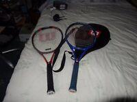 2 Titanium Wilson Grand Slam Tennis Racquet & Wilson Sting Racket Tennis
