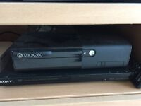 XBox 360 with Controller, Steering Wheel and 3 Games