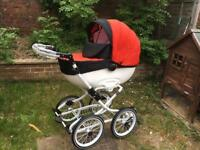 Pram 3 in 1 babyboss + car seat Maxi-cosi 0-13kg + base isofix pushchair