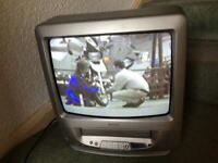 """Matsui 14"""" TV Model TVR185(A)TS vhs video player with tapes."""