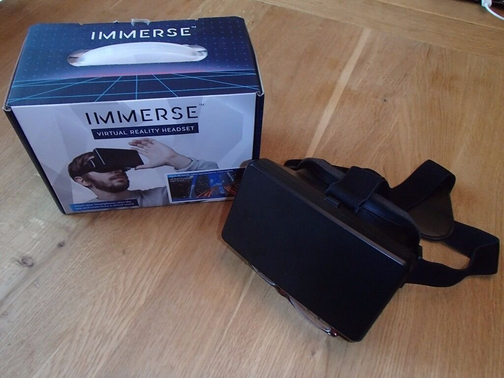 IMMERSE VIRTUAL REALITY HEADSET WATCH 3D MOVIES OR VIDEOS ON SMARTPHONE