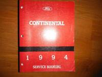 1994 Lincoln Continental Factory Service Manual