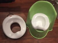 Baby Bjorn Toilet Training Green Seat Potty Chair and toilet training seat