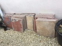 Job Lot of 70+ Used Floor Wall Tiles 50cm x 50cm / 17 Square Metres incs Some Offcuts