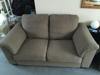 Ikea 2 seater sofa & footstool