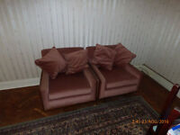 Hide a bed and chairs and wardrobe to give away