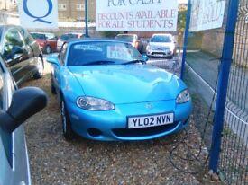 2002 Mazda mx5 1.6 petrol 92.000 miles full service history full MOT 2 seater convertible manual