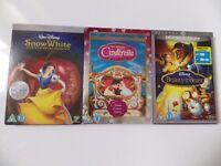 Disney DVD + Blu-ray job lot: princesses