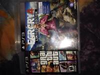 Far cry 4 and gta 5 for ps3