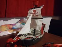 Playmobil Red Serpent Pirate Ship + Extra figures + Row boat