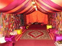 MOROCCAN / ARABIAN THEMED MARQUEE HIRE - WHY NOT TAKE YOUR PARTY SOMEWHERE EXOTIC THIS SUMMER