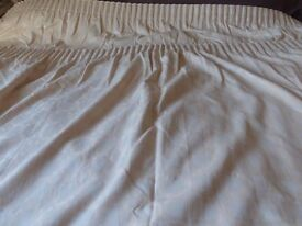 Pair of lined curtains