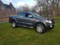 FORD RANGER LIMITED CREW CAB 2013 4 WHEEL DRIVE PICK UP