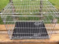 Galvanised dog/pet cage