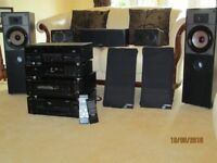 Kenwood seperates with Mission 763 speakers great condition 5.1 surround sound