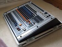 PEAVEY XR 1212 DJ/PA SYSTEM. POWERED MIXER. MIXER/AMPLIFIER. 1200 WATTS. INCLUDES THON FLIGHT CASE.