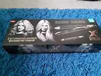 2 in 1 straightener and curler X Styler