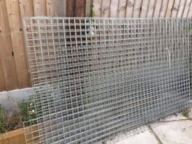 Galvanised 50x50x3 sheet mesh