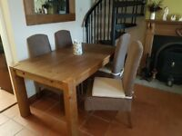 Dining room table and chairs and additional furniture for sale. Excellent condition