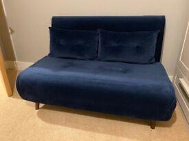 Haru Sofa Bed - Sapphire Blue Velvet (made .com)