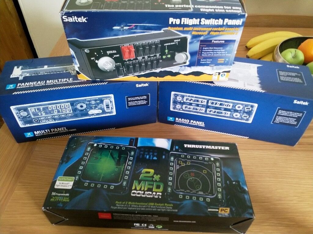 Saitek Pro flight multi panel, Pro flight Radio panel, Pro Flight Switch  Panel & Thrustmaster MFD | in Hull, East Yorkshire | Gumtree