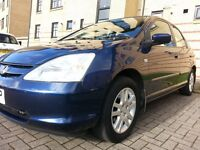 ★ DIESEL, GUARANTEED 66,000 MLS ★ 2003 HONDA CIVIC 1.7i CTDi 5dr ★ FULL YRS MOT ★ FULL SERVICE HIST
