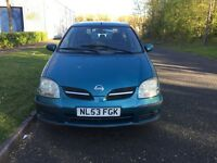 NISSAN ALMERA TINI 1.8 PETROL MOT 10 MONTH VERY LOW MILEAGE