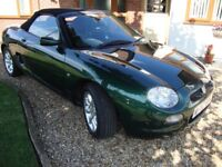 MGF with only 44.700 low miles since new & MOT to August 2018, British Racing Green model.