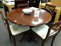 Excellent dark wood dining table
