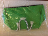 Large Ikea lime green holdall.