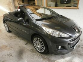 2011 PEUGEOT 207 CC 1.6 GT 2DOOR, CONVERTIBLE, SERVICE HISTORY CLEAN CAR, DRIVES LIKE NEW, HPI CLEAR